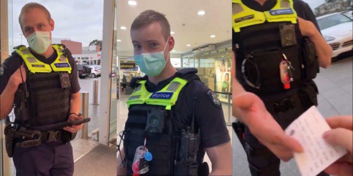 """Karen"" wyk³óca siê z policjantami o mandat za brak maski ochronnej"