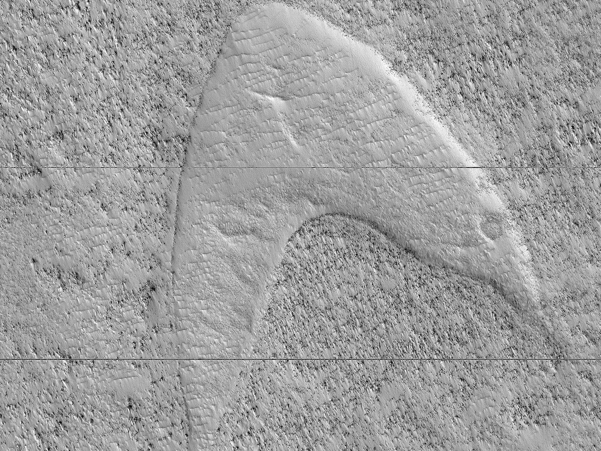 Mars z kolejn± tajemnic±. Logo znanego ...