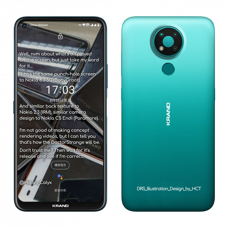 Nokia 3.4. Nowe rendery, fragment specyfikacji