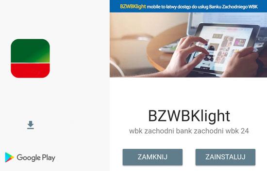 Kolejna fa³szywa aplikacja BZ WBK w Sklepie Play