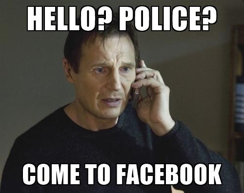 Halo, policja? Proszê przyjechaæ na Facebooka
