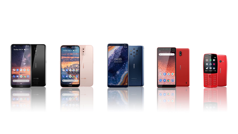 Nokia zaprezentowa³a cztery nowe smartfony na tegorocznym MWC 2019