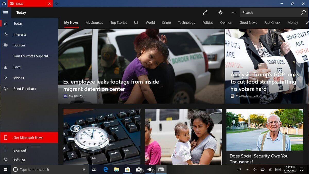 News Bar, czyli nowa aplikacja z aktualno¶ciami dla Windows 10