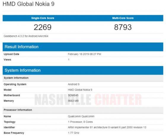Benchmark Nokia 9 Pureview zdradza czê¶æ jej specyfikacji