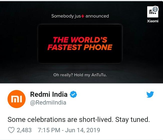 Xiaomi ponownie ¿artuje z OnePlus dziêki nowemu Redmi K20.