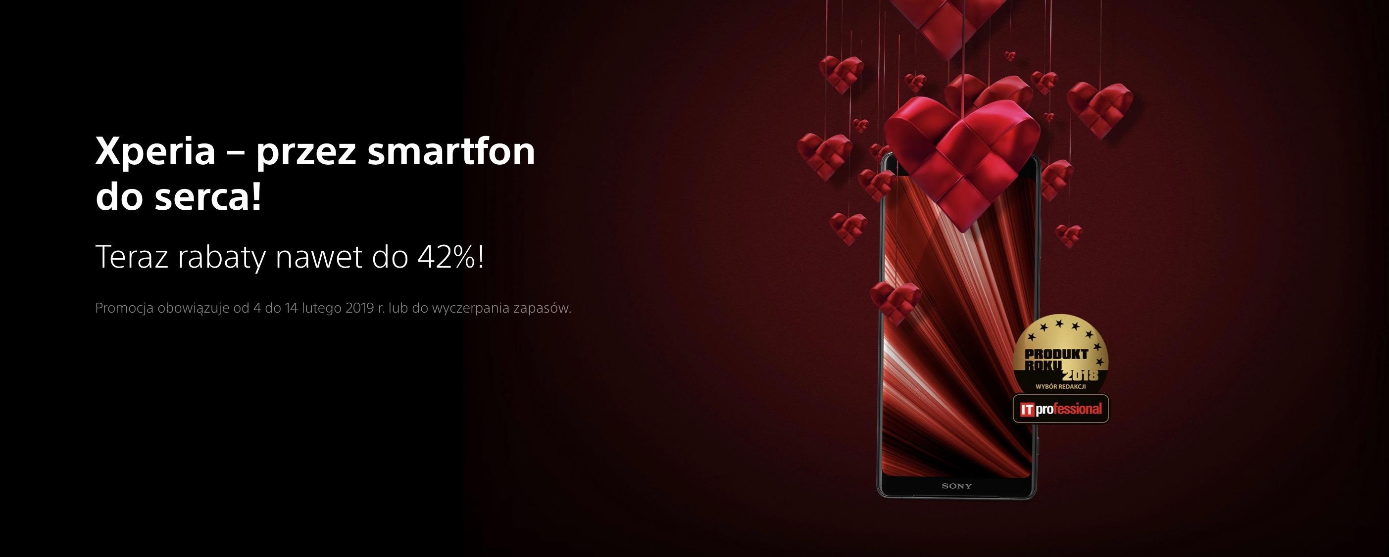 Walentynkowa promocja Sony. Smartfony tañsze o nawet 42 procent