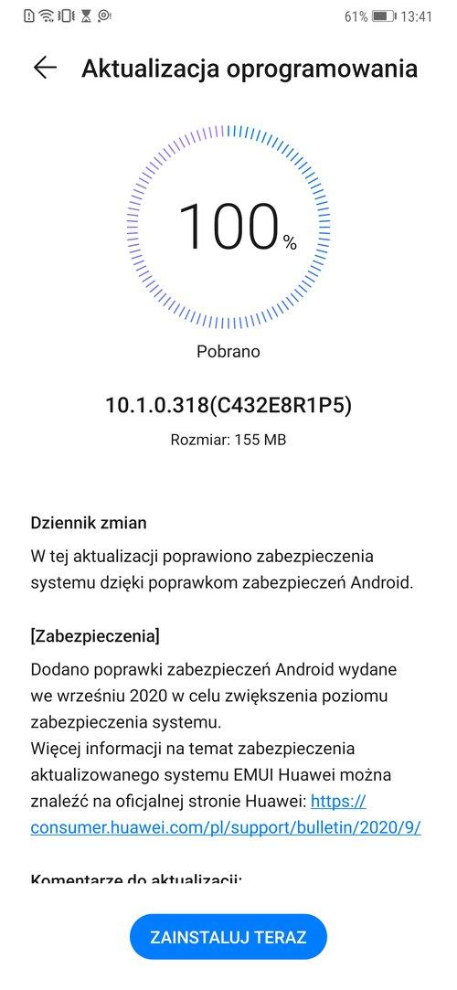 Huawei Mate 20 Pro otrzyma³ wa¿ne poprawki zabezpieczeñ