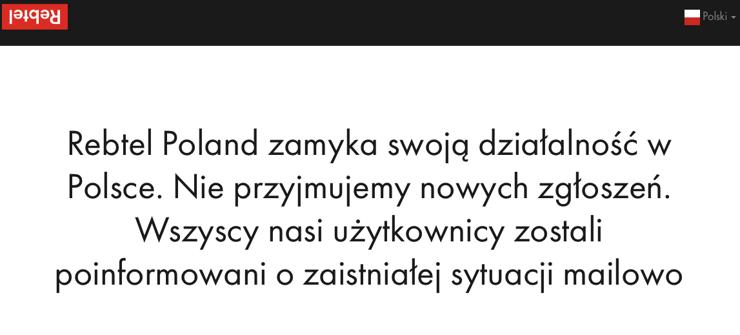 Rebtel opuszcza Polskê ?! Tak szybko ?!