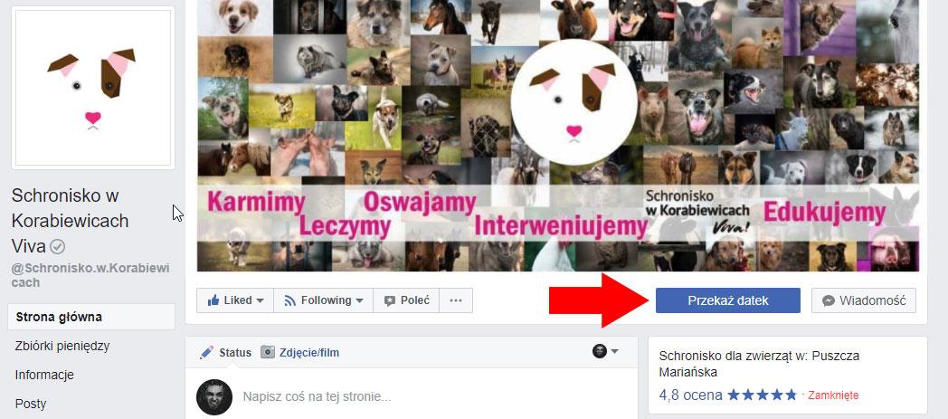 """""""Przeka¿ datek"""", czyli Facebook wprowadza zbiórki charytatywne"""