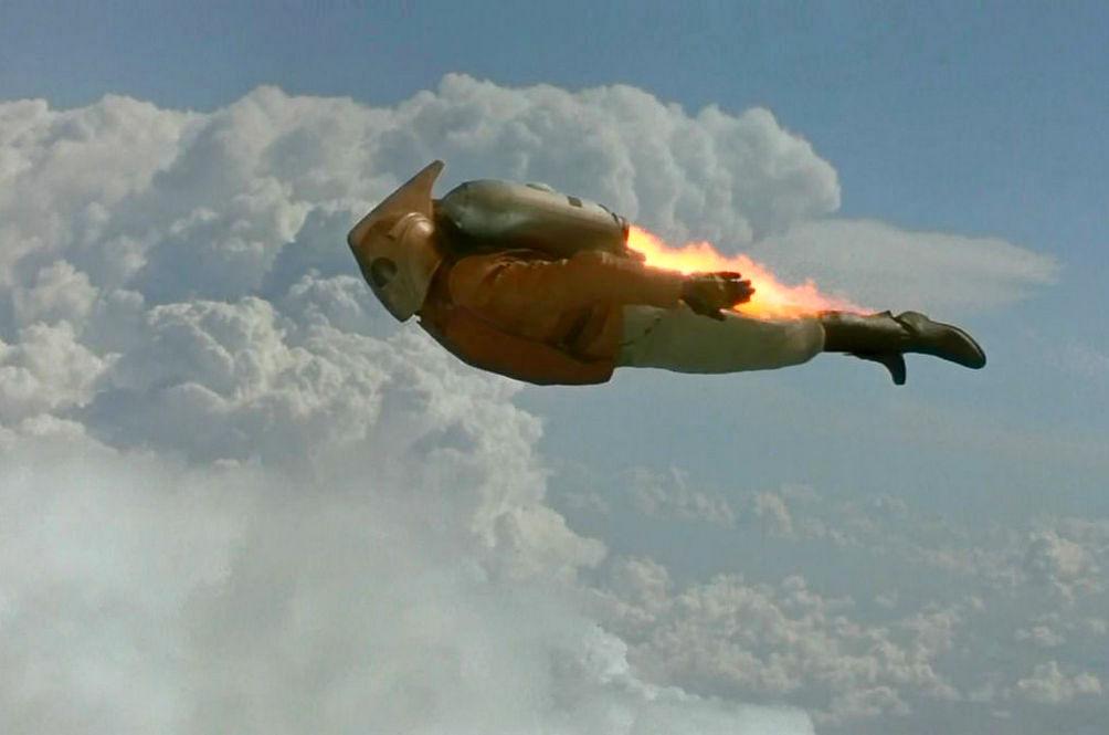Cz³owiek z jetpackiem straszy pilotów samolotu na wysoko¶ci 2 kilometrów nad powierzchni± ziemi