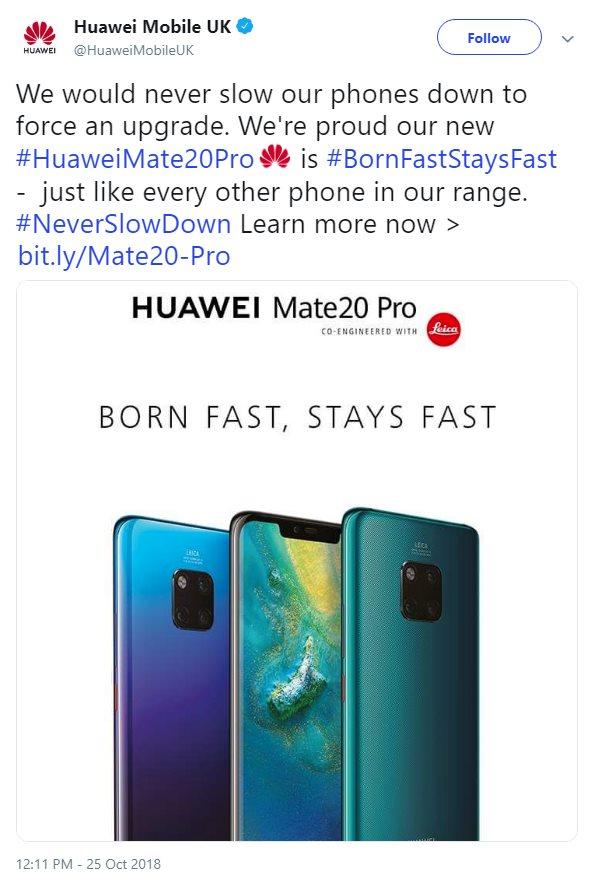 Huawei nabija siê z Samsunga i Apple w sprawie spowalniania telefonów.