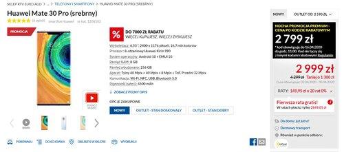 Huawei Mate 30 Pro do dostania w promocyjnej cenie