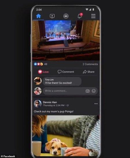 Rozpoczê³y siê publiczne testy mobilnego Facebooka z ciemnym motywem