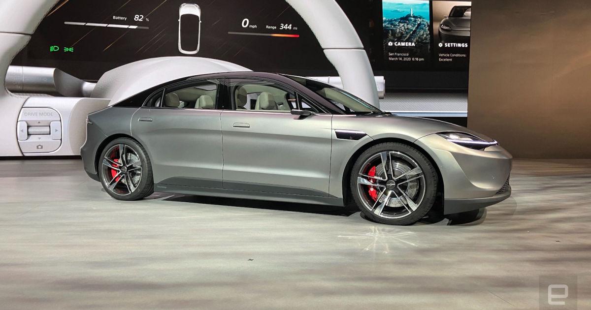 Vision-S, czyli elektryczny samochód od Sony