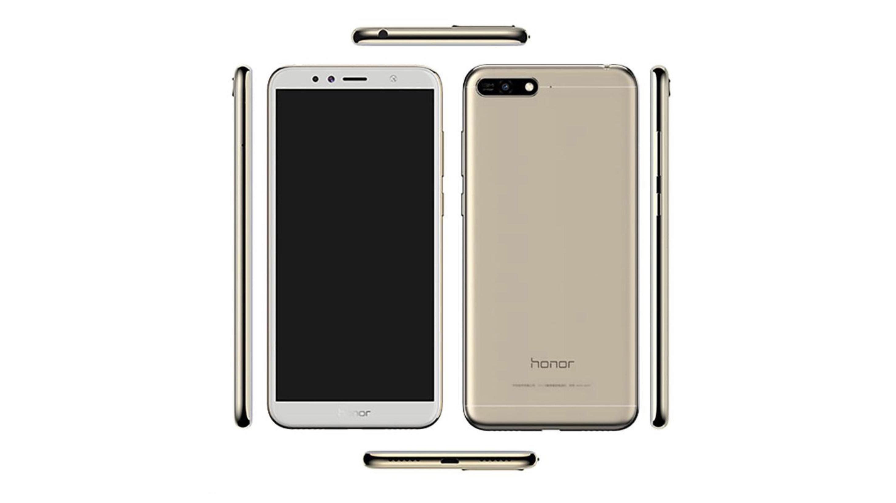 Wyciek³y render i specyfikacja Huawei Honor 7A