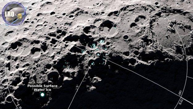 NASA odnalaz³o na Ksiê¿ycu cz±steczki wody