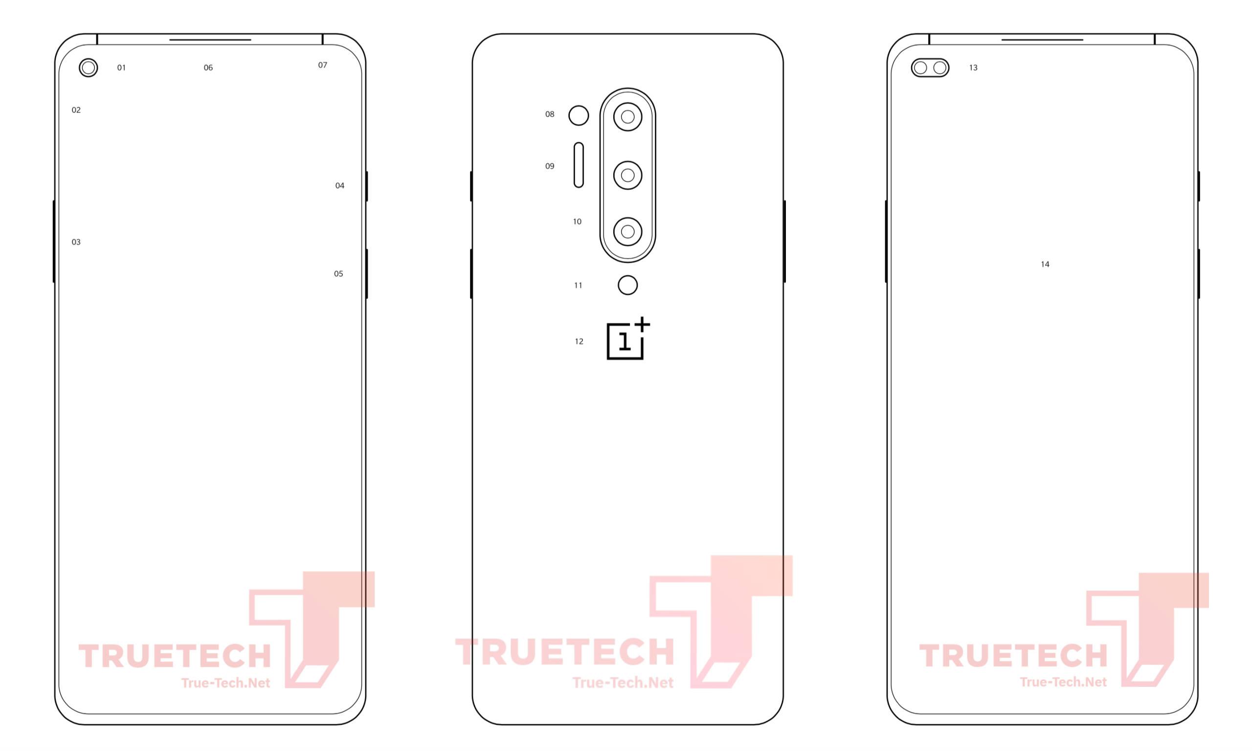 Wyciek³y schematy OnePlus 8 Pro