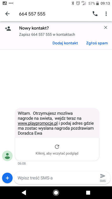 """Oszustwo na """"SMS od Play"""""""