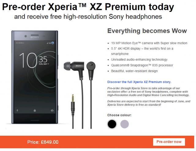 Sony Xperia XZ Premium dostêpna przedpremierowo w Europie