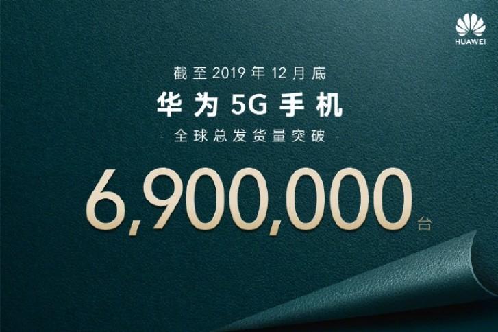 Huawei sprzeda³o a¿ 6,9 miliona urz±dzeñ 5G w 2019 roku