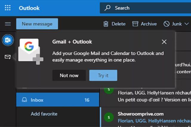 """Poczta Gmail zintegrowana z Outlookiem? Microsoft mówi """"czemu nie"""""""