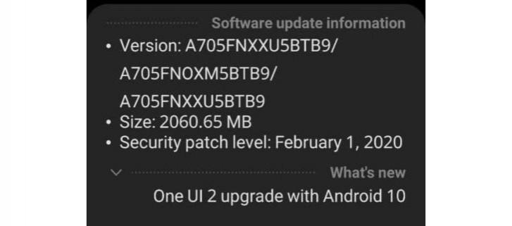 Samsung Galaxy A70 otrzymuje aktualizacjê Androida 10 z One UI 2.0