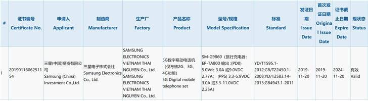 W sieci pojawi³ siê certfyfikat Samsung Galaxy S11 Plus. Ujawnia pojemno¶æ baterii urz±dzenia