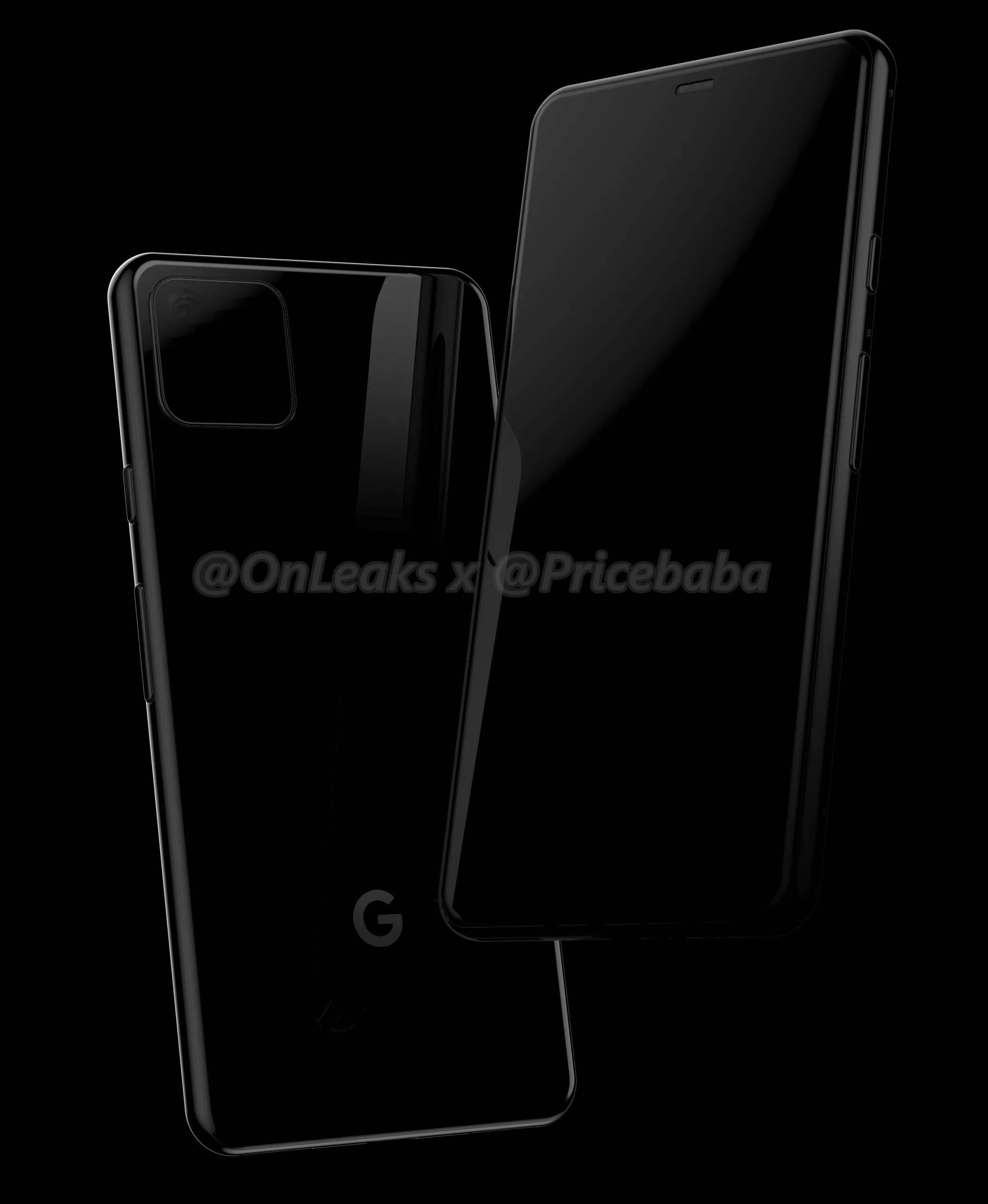 Wyciek³y rendery Google Pixel 4