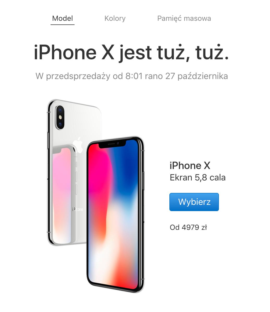 Przedsprzeda¿ iPhone X w Polsce zacznie siê 27-go pa¼dziernika