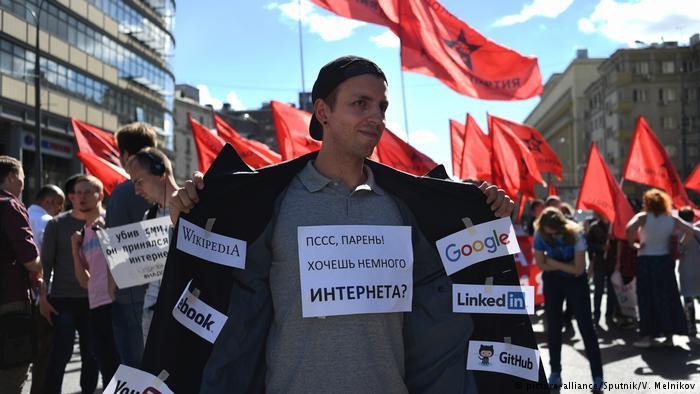 Rosjanie protestuj± przeciwko planom izolacji rosyjskiego internetu