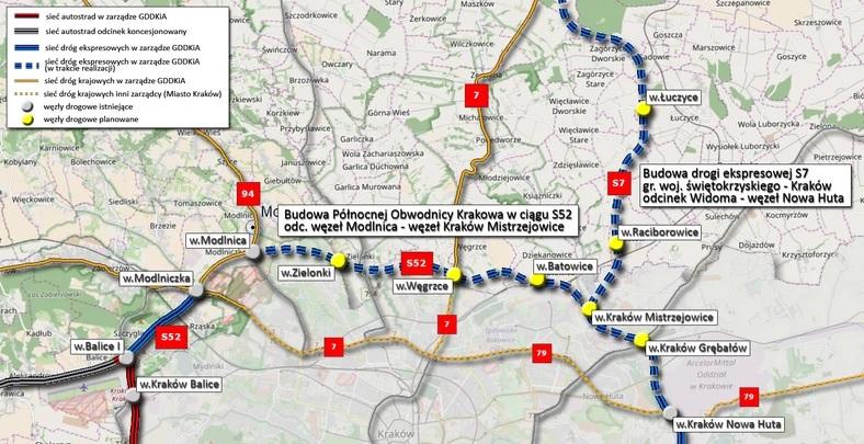 Budowa pó³nocnej obwodnicy Krakowa w ci±gu drogi ekspresowej S52 rozpoczêta