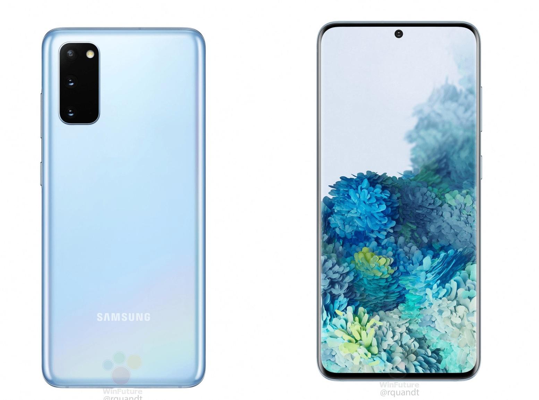 Wyciek³y kolejne rendery Samsung Galaxy S20