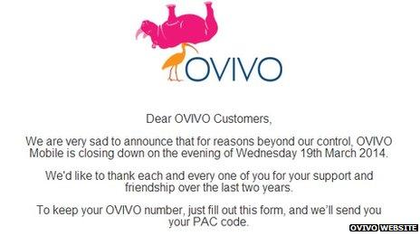 Brytyjska firma Ovivo niespodziewanie koñczy dzia³alno¶æ.