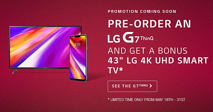 Zamów LG G7 ThinQ w przedsprzeda¿y a dostaniesz telewizor