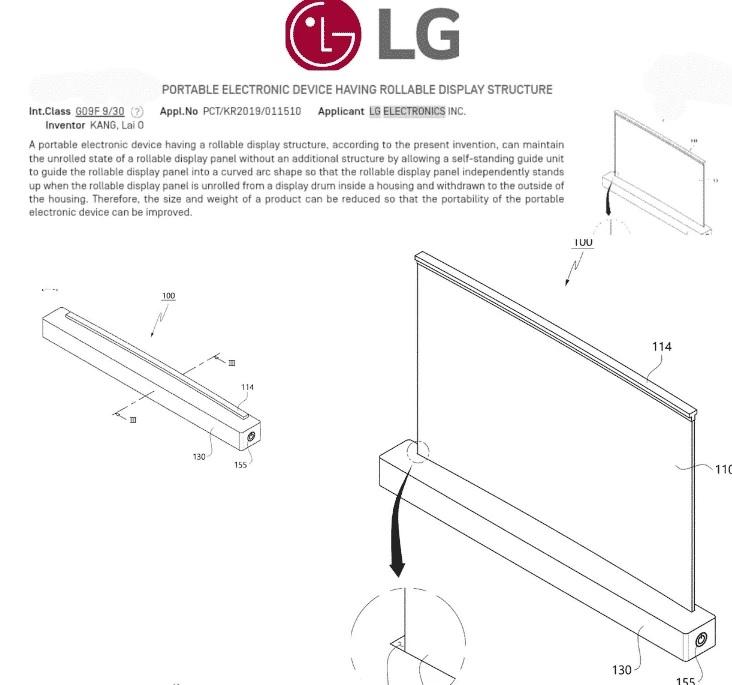 LG opatentowa³o zwijany laptop