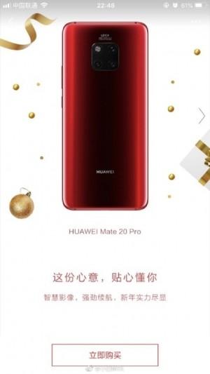 Nowy Huawei Mate 20 Pro w czerwonym kolorze