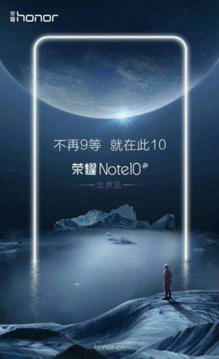 Honor próbuje podgrzaæ atmosferê wokó³ Honor Note 10