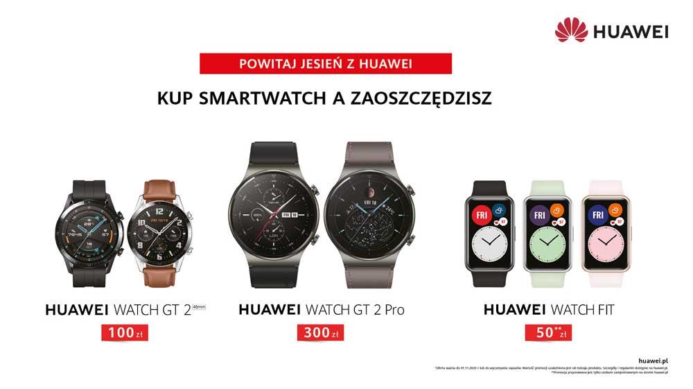 Huawei oferuje promocje na trzy modele smartwatchy