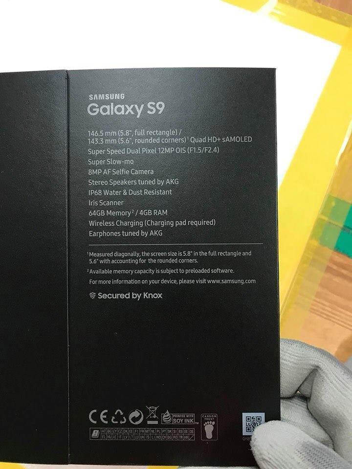 Wyciek³o zdjêcie domniemywanego pude³ka Galaxy S9. Specyfikacja