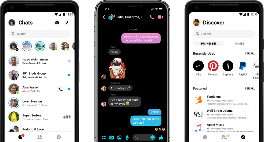Facebook Messenger wkrótce dostanie tryb nocny