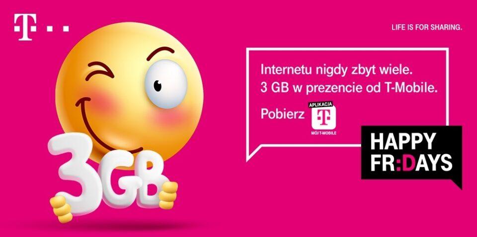 Happy Fridays, czyli 3 gigabajty darmowego internetu dla klientów T-Mobile