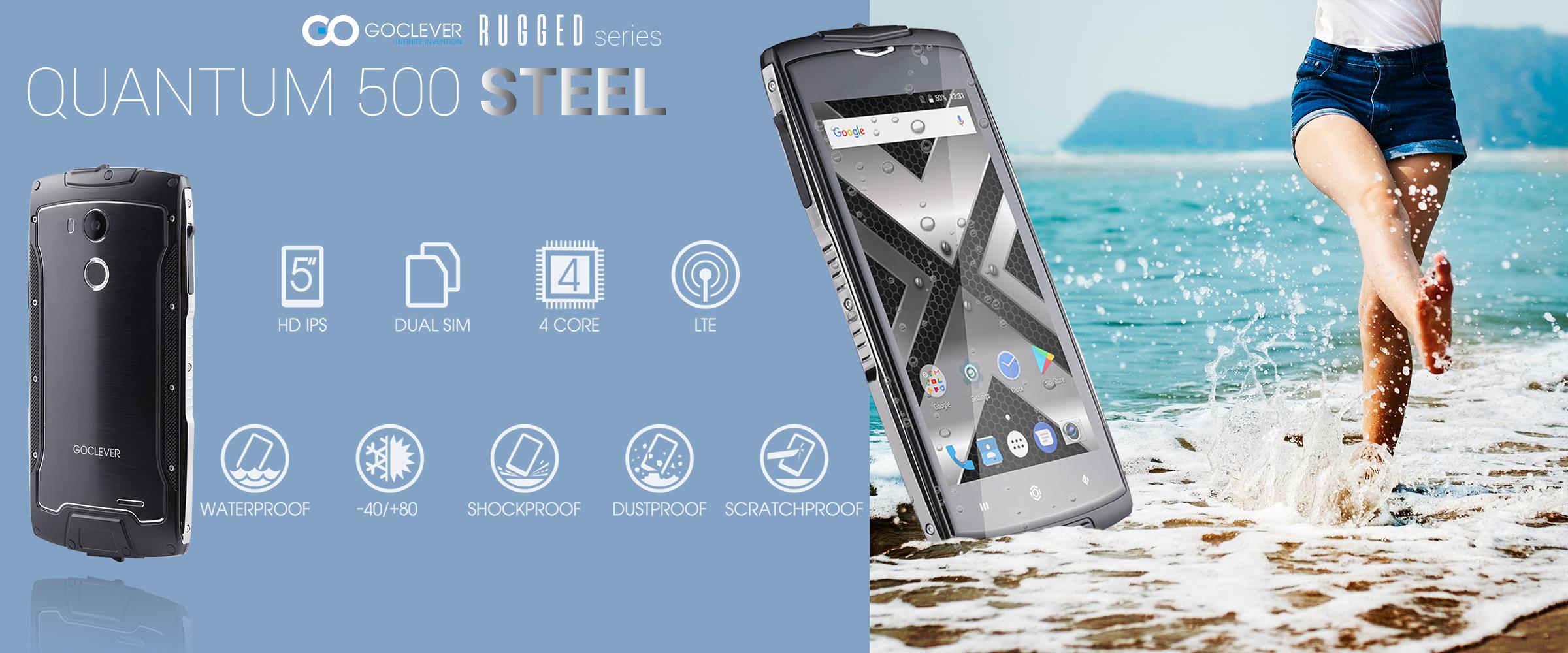 GOCLEVER Quantum 500 Steel, czyli wytrzyma³y telefon w rozs±dnej cenie