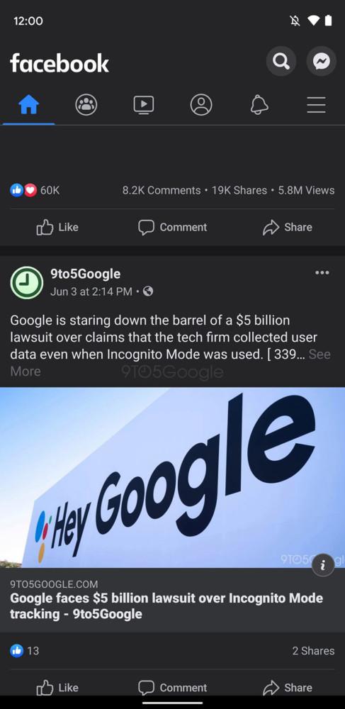 Wiemy, jak wygl±da ciemny motyw Facebooka dla Androida