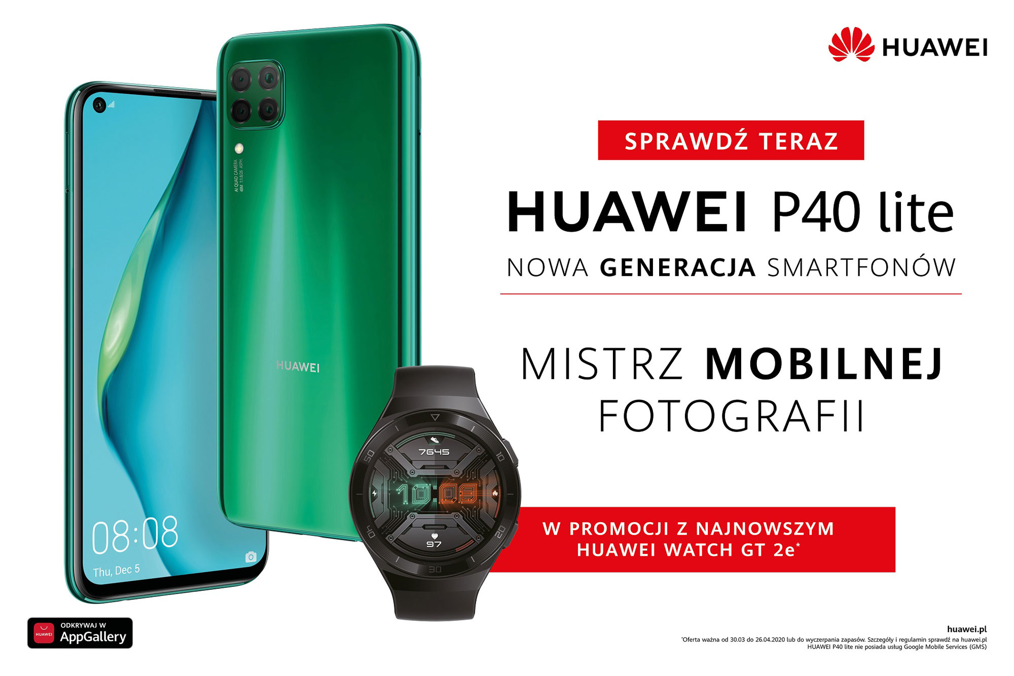 Huawei P40 lite do kupienia za 1599 z³otych w zestawie z Watch GT 2e
