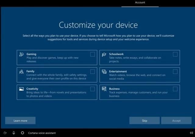 Microsoft testuje nowy ekran wstêpnej konfiguracji dla Windows 10