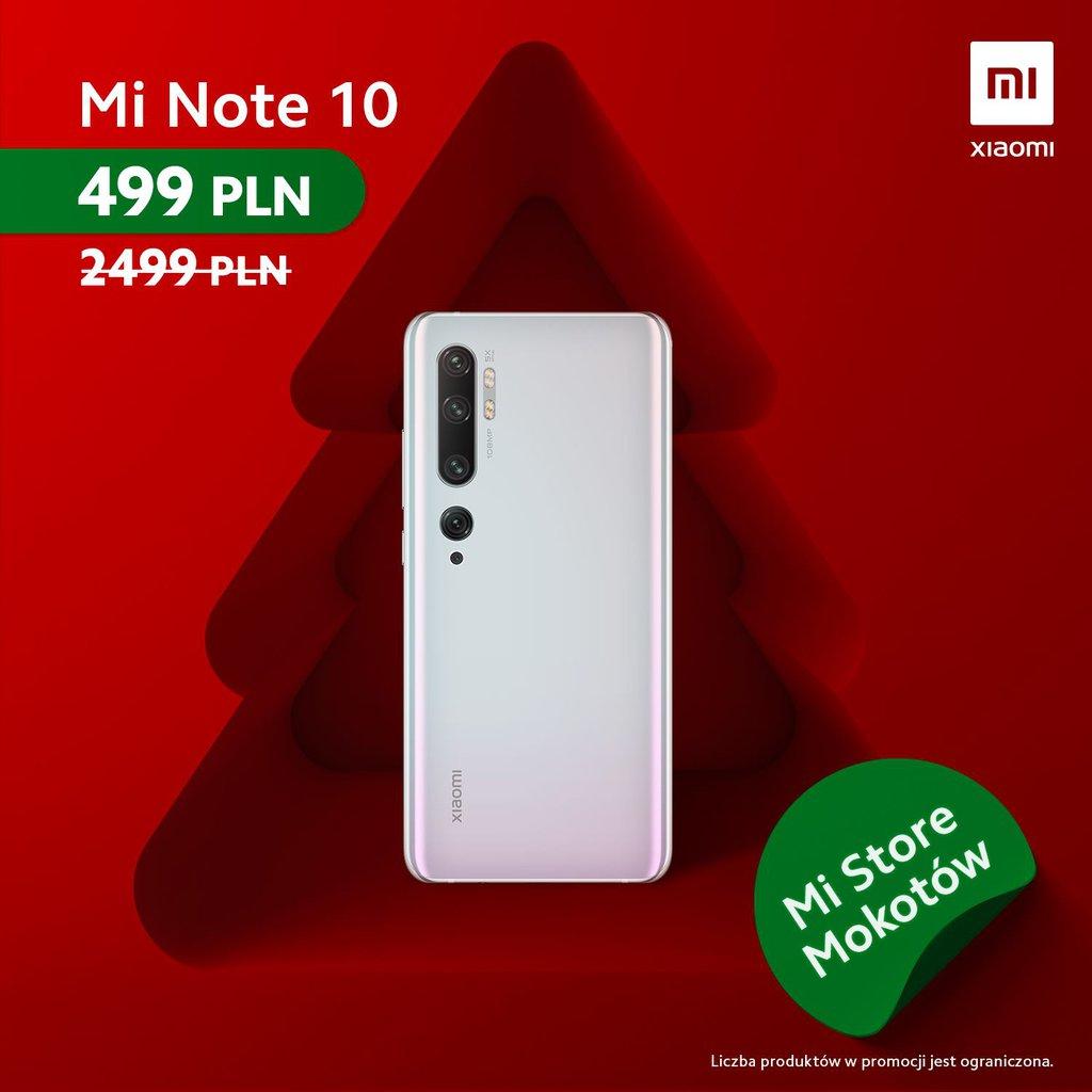 Promocja robi±ca wra¿enie! Xiaomi Mi Note 10 do kupienia za ¶mieszn± kwotê