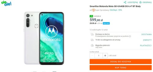 Trwa promocja na smartfon Motorola Moto G8
