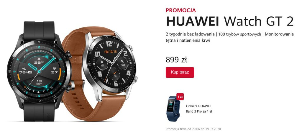 Trwa promocja na Huawei Watch GT 2