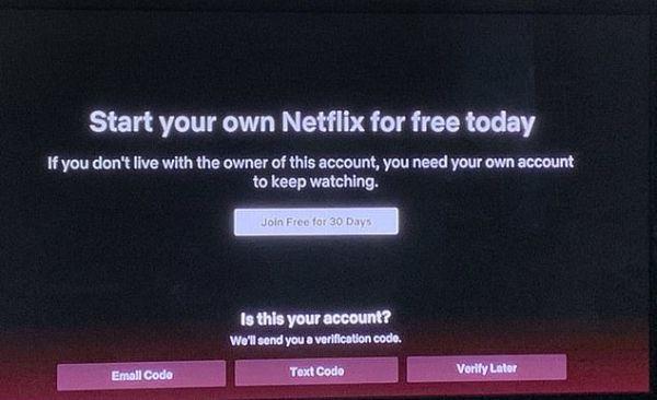 Koniec dzielenia siê kontem Netflix