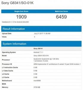 Sony Xperia XZ1 trafi³a na Geekbench